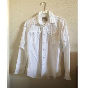 Western snap dress up long sleeve shirt